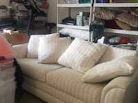 white fabric 3-seat sofa Falls Church