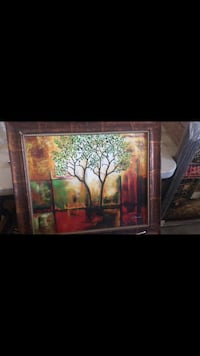brown wooden framed painting of trees Manteca, 95337