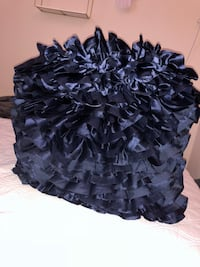 Navy blue ruffle pillow 775 mi
