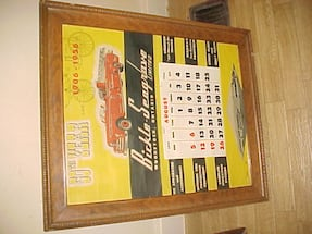 Nice Vintage 1956 Calender Bickle Seagrove Motors 50th Anniversary I Bizz