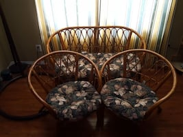 Rottan chair set