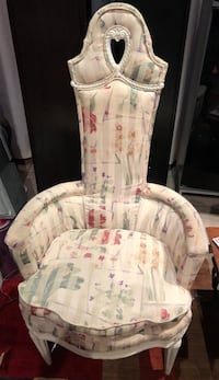 Vintage high back chair