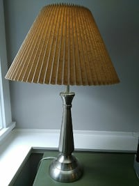 silver based with brown shade table lamp Victoria, V8V 2W6