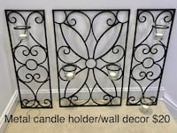 Metal wall decor/candle holder Falls Church, 22043