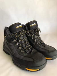 pair of black leather work boots 2388 mi