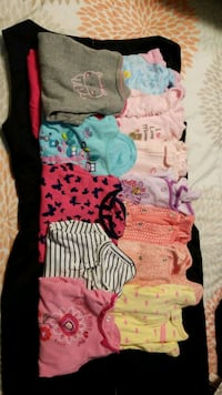 6 month girl pj's, and long sleeved shirts New Lenox, 60451
