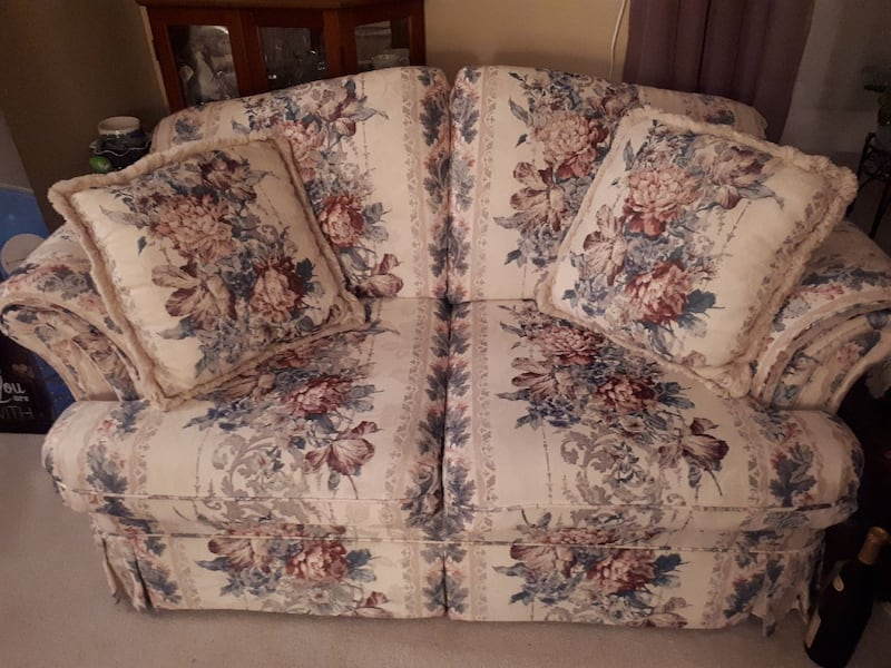 3 piece sofa loveseat  and chair 1