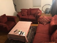 Set of three sofa and a table. In great condition.  Woodbridge, 22193