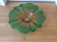 Antique Colored Glass Platter , Heavy 17in West Newbury, 01985