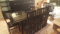 brown wooden dining table set 922 mi