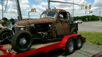 1947 International Rat Rod pick up truck.