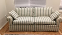 white and gray striped fabric loveseat Bethesda, 20817