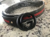 black Gucci leather belt with gold buckle Sterling Heights, 48314