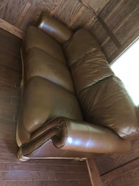 brown leather 3-seat sofa Fairfax, 22030