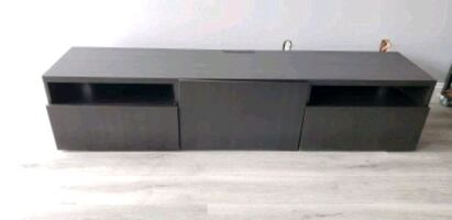 """Black TV Stand (up to 75"""" TV)"""