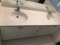 white ceramic sink with faucet Sterling, 20164