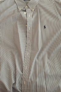 Ralph Lauren XL black and white pinstripe dress shirt  Herndon, 20171