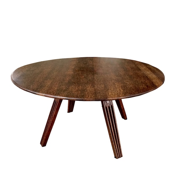 Used Exotic Black Palmwood Dinning Table Made By Pacific Green Co