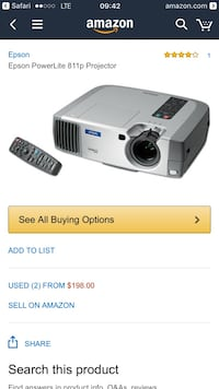epson powerlife 811p projector Vancouver, V5Y 1N7