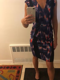 women's black and red floral sleeveless dress New York, 11385