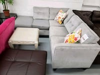Modern grey fabric sectional on sale  Toronto, M9W 1P6