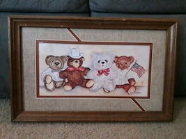 Bears framed print