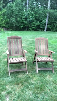 Teak folding chairs.  Only need to be oiled   North Easton, 02356