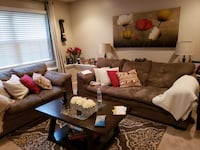 Brown and white living room set Located Waldorf Bethesda, 20814