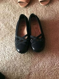 pair of black leather flats Suitland-Silver Hill, 20747
