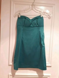 LOWERED-Strapless Dress Teal/Turquoise Fitted Size Small Padded Toronto, M6B 3J3