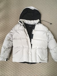 white and black bubble jacket Potomac, 20854