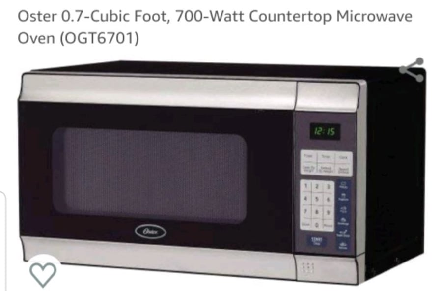 Oster 0.7 cu. Ft. Countertop microwave oven 9545be24-58cc-473e-a09c-14d40a9526d9