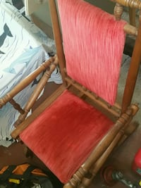 brown wooden framed red padded armchair 497 mi