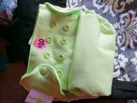 baby's green and white reusable cloth diaper Edmonton, T5T 3Z9