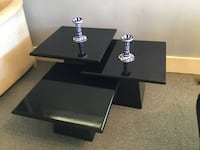Black Wood Glossy Nesting Tables Vancouver, V6P 4E5