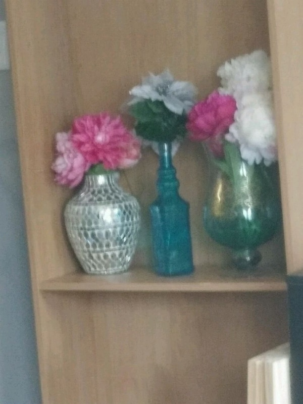 Used 3 vases with flowers for sale in sandy springs letgo 3 vases with flowers mightylinksfo
