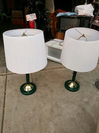 two white-and-black table lamps Sacramento, 95838