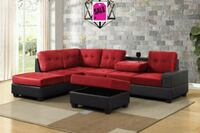 Red/Black Reversible Sectional with Storage 678655 Houston, 77036