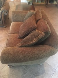 Brown floral sofa chairs with tables Monroe Township, 08831