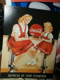 retro coke -cola sign refresh at our fountain soda Toronto, M4L 1Y8