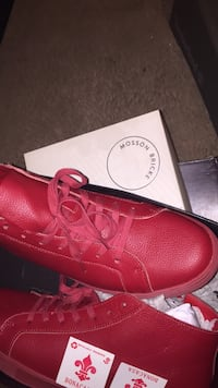 pair of red leather dress shoes with box Charles Town, 25414
