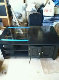 black and blue wooden TV stand San Juan Capistrano, 92675