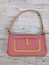 Louis Vuitton Monogram Vernis Mallory Pink Leather Bag