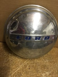 Vintage Ford Hubcap Chrome with Blue Letters
