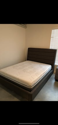 Platform style bed queen size. Grey color. JUST BED FRAME NO MATTRESSS Houston, 77002