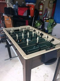 white and black foosball table Springfield, 22150