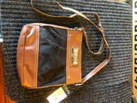 black and brown leather crossbody bag Vacaville, 95688