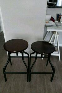 two black metal bar stools Downey, 90242