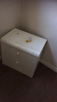 white wooden 3-drawer chest Calgary, T3A 1B1