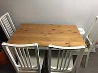 Ikea Kitchen table + 4 chairs (refurbished) Vancouver, V6J 1K8